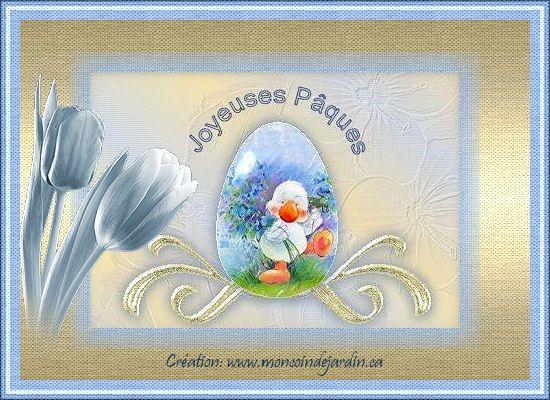 Cartes de joyeuse Pâques. Cartepaques19_