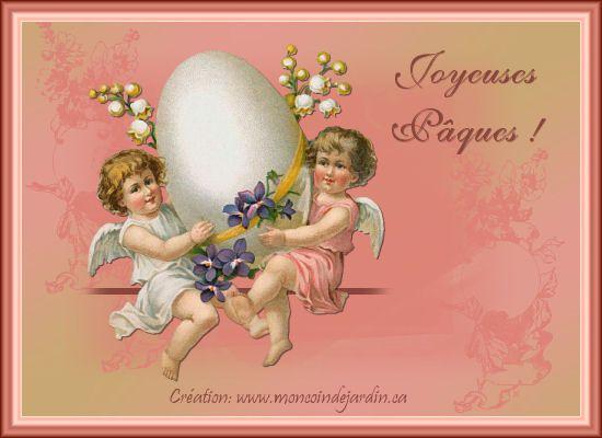 Cartes de joyeuse Pâques. Cartepaques1_